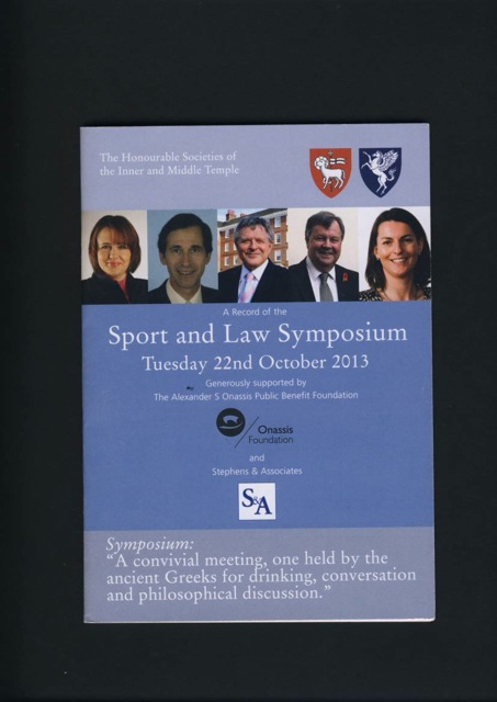 Sport and Law Symposium 2013